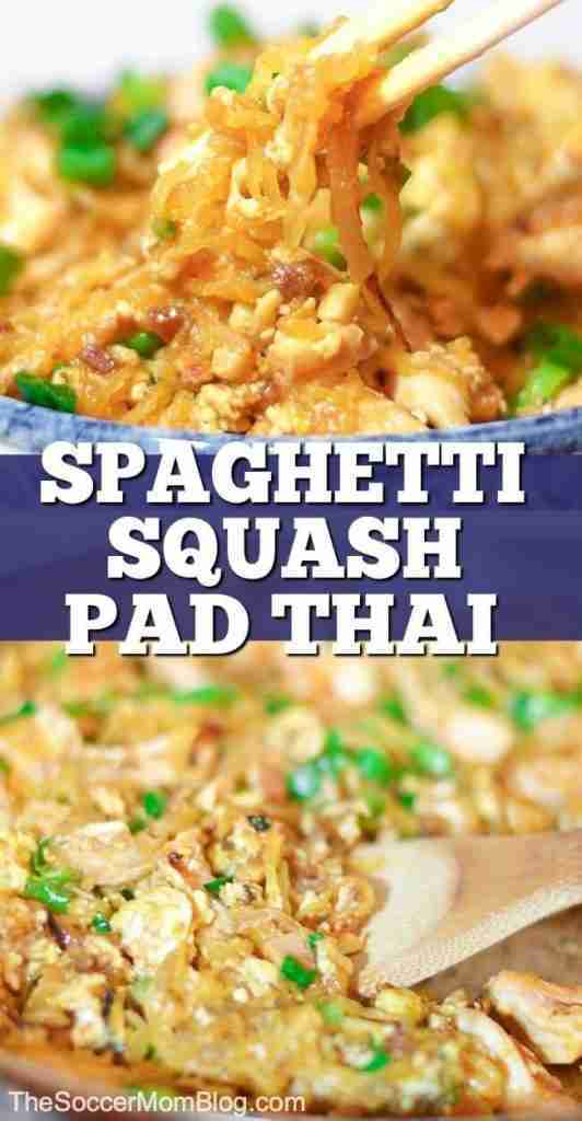 Spaghetti Squash Pad Thai – Tastes AMAZING & Healthier than Take-out!