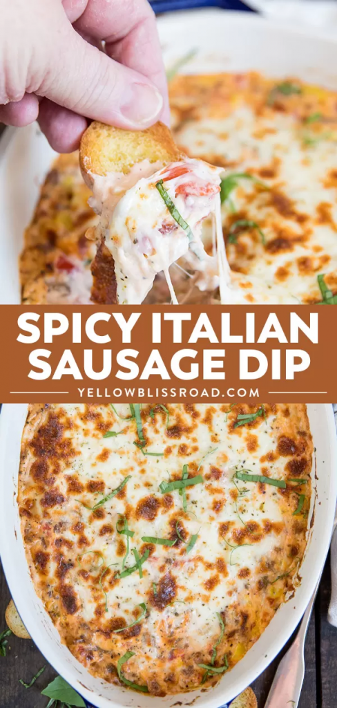 Spicy Italian Sausage Dip