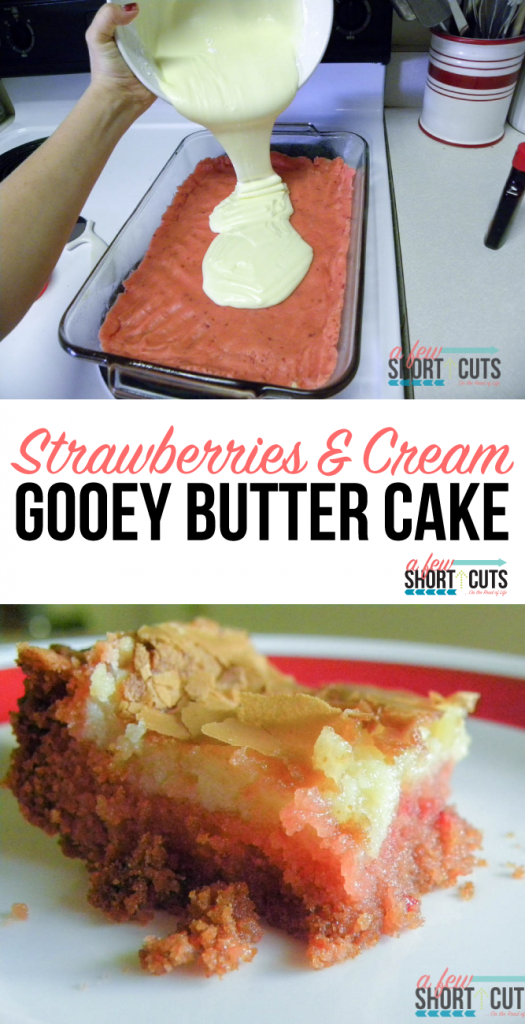 Strawberries and Cream Gooey Butter Cakes