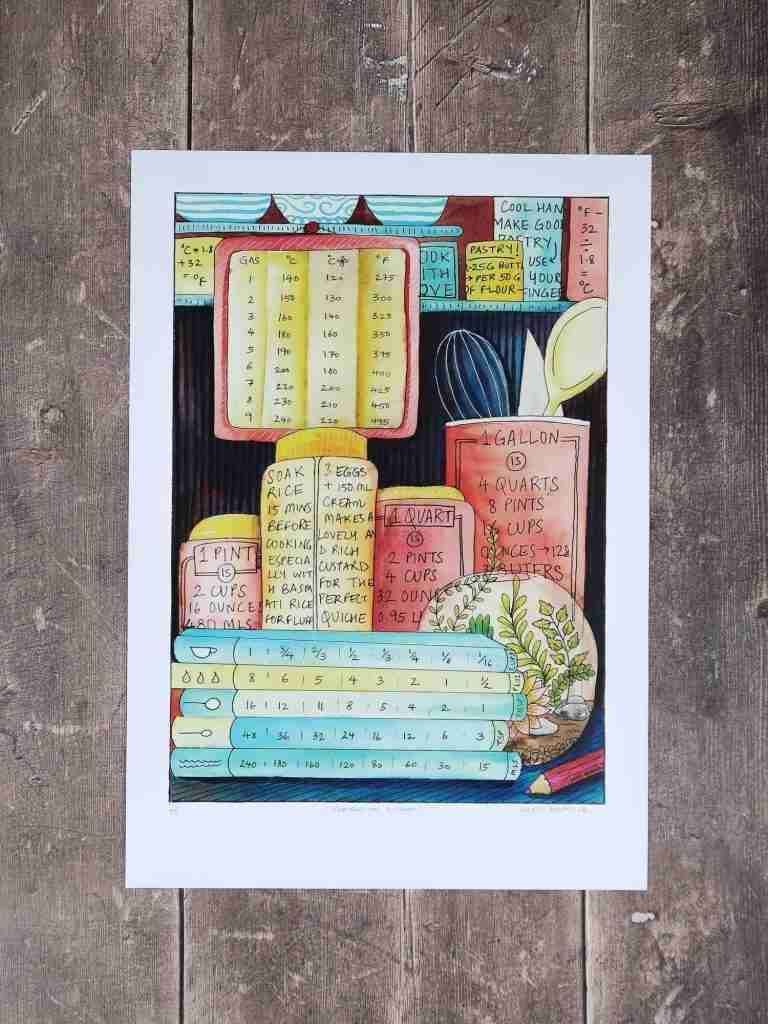 Terrarium Kitchen Chart – art print – A3