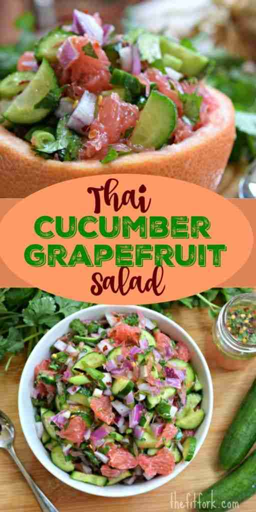 Thai Cucumber Grapefruit Salad