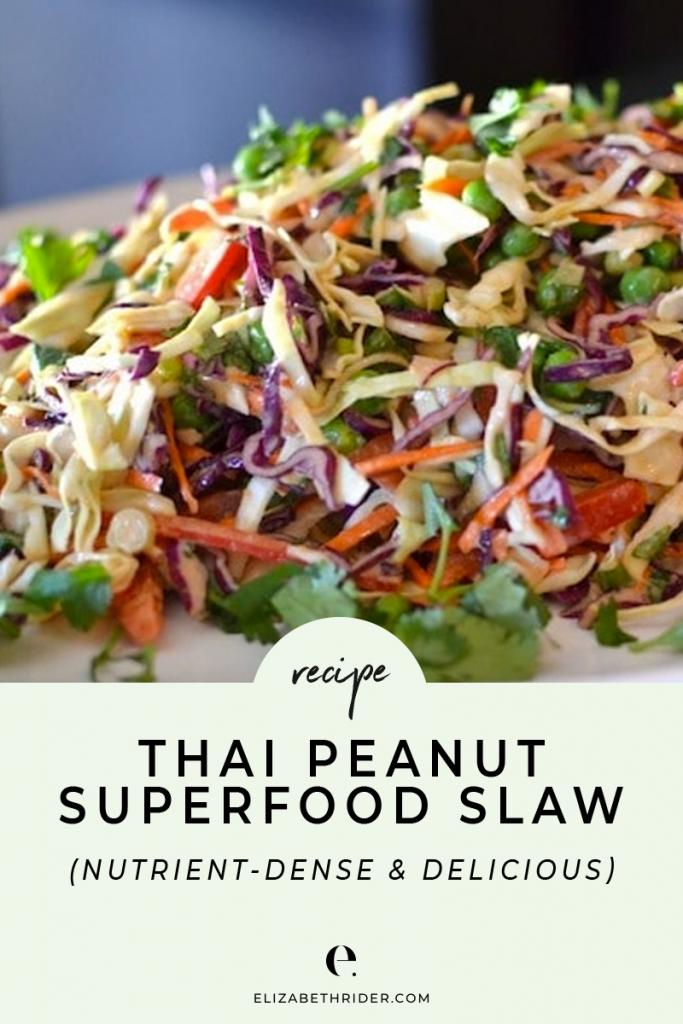 Thai-Inspired Peanut Superfood Slaw Recipe   Elizabeth Rider