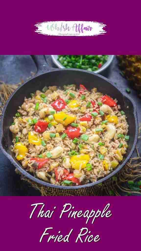 Thai Pineapple Fried Rice Video Recipe