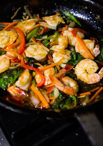 Thai Spicy Basil Shrimp