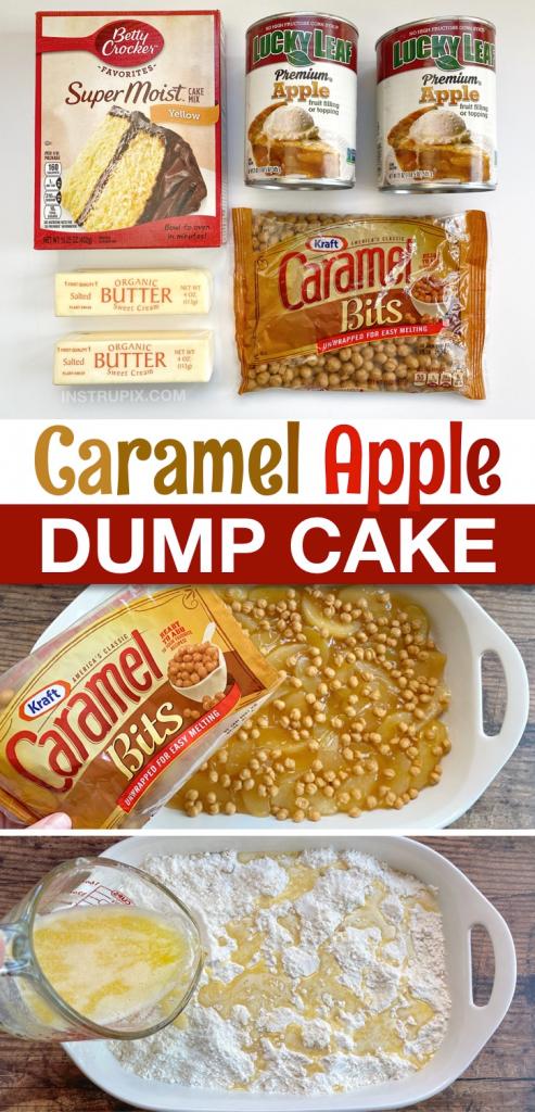 The Best Caramel Apple Cobbler Dump Cake