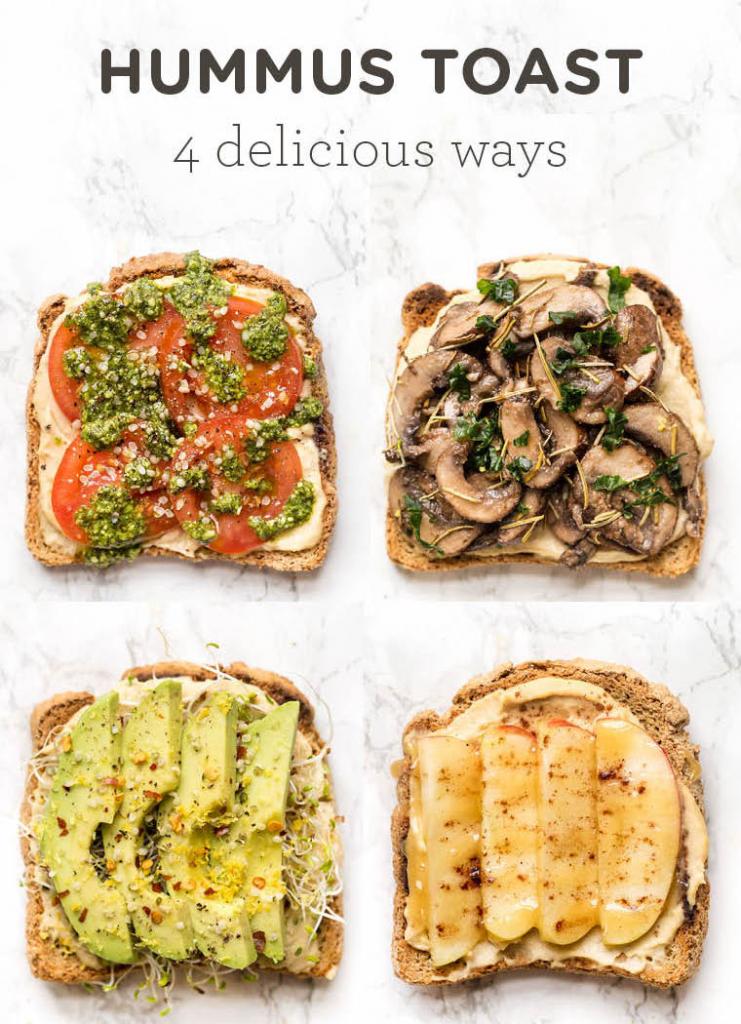 The New Breakfast: Healthy Hummus Toast, 4 Delicious Ways
