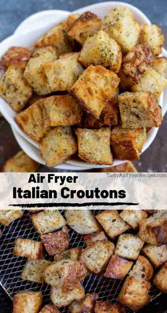 The best croutons are air fried! TheseAir Fryer Homemade Croutons are crisp, f…