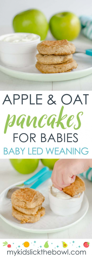 The perfect pancakes for baby – made with apple and oat