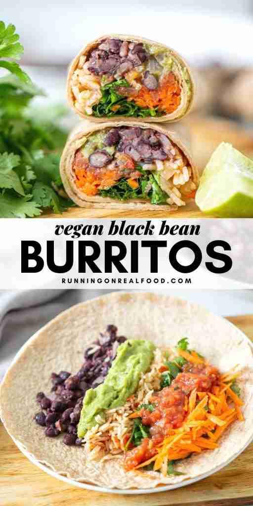 Vegan Black Bean and Rice Burritos