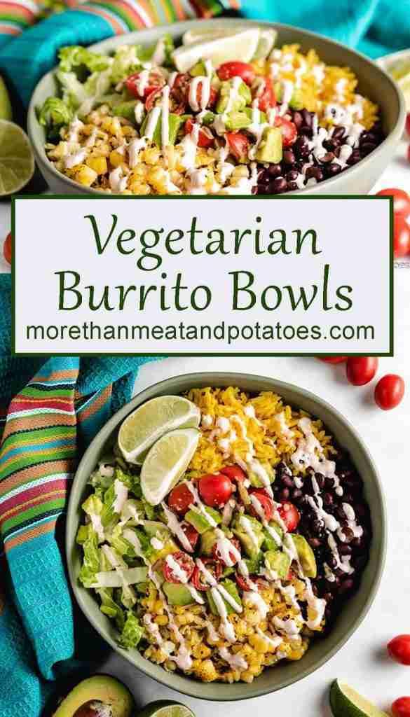 Vegetarian Burrito Bowls