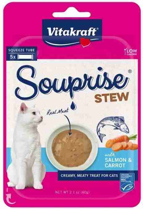 VitaKraft Souprise Stew Lickable Cat Treat Salmon and Carrot 5 count – 5 count