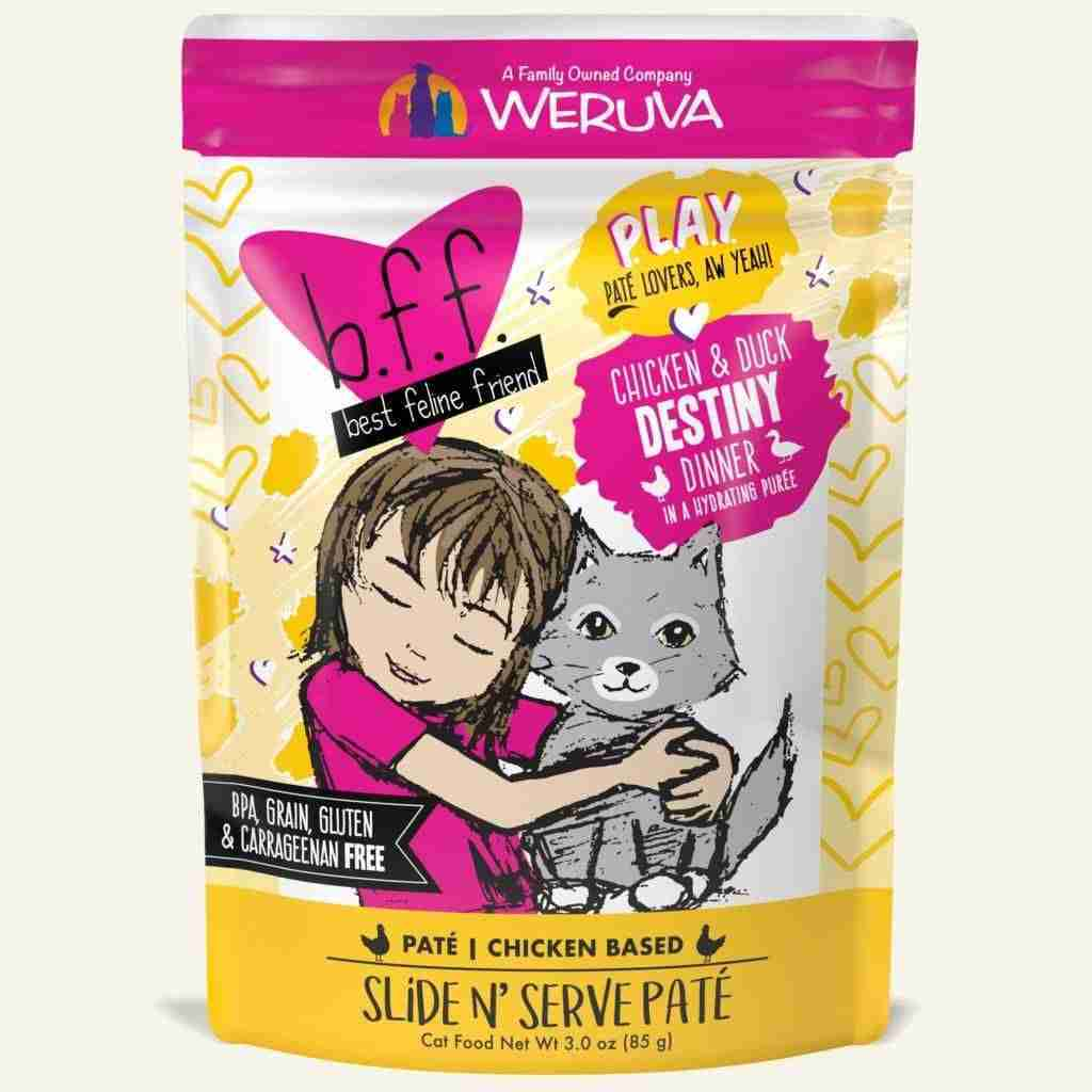 Weruva BFF PLAY Wet Cat Food Pouch – Chicken Duck –  Destiny