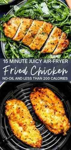 15 Minute Crispy Air-Fryer Breaded Chicken Breast