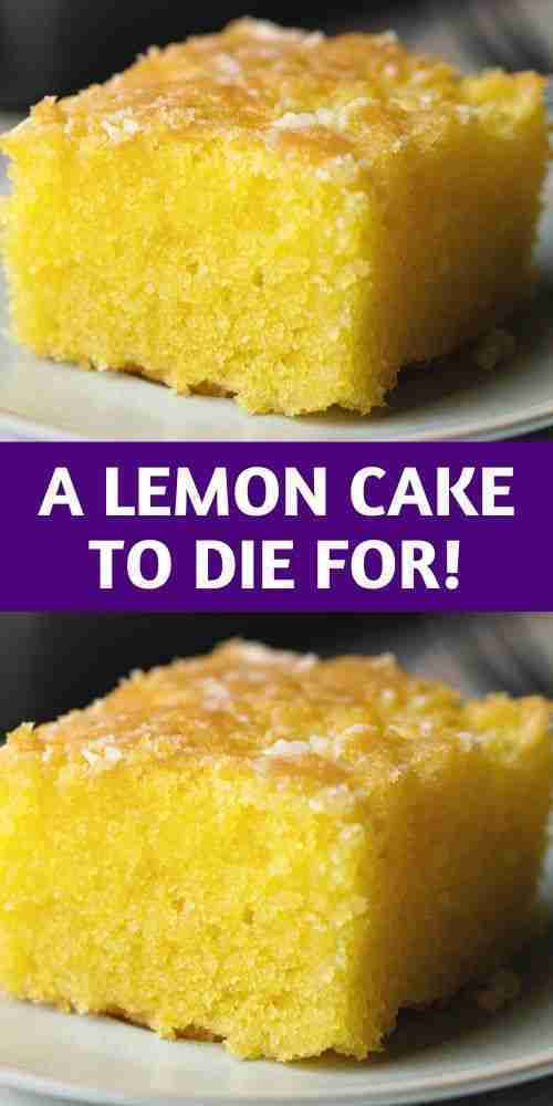 A Lemon Cake to Die for! – 100K-Recipes