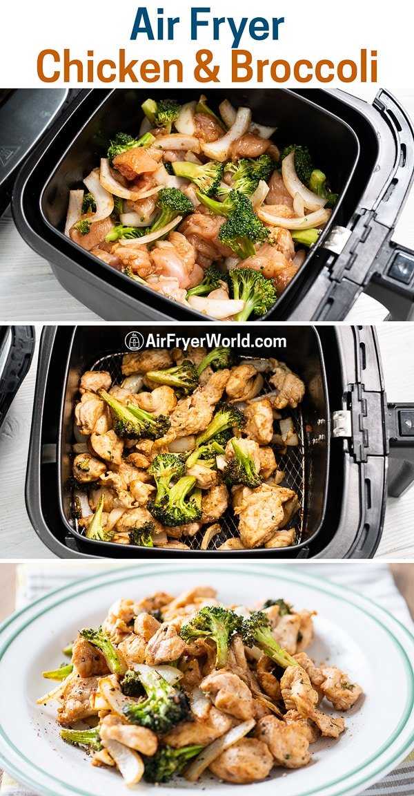 Air Fried Chicken and Broccoli LOW CARB and KETO   Air Fryer World