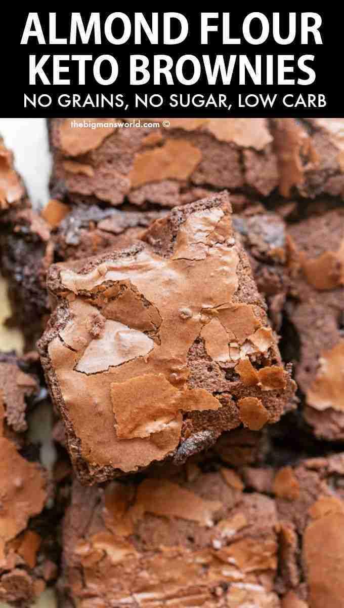 Almond Flour Brownies (NO grains or sugar!)