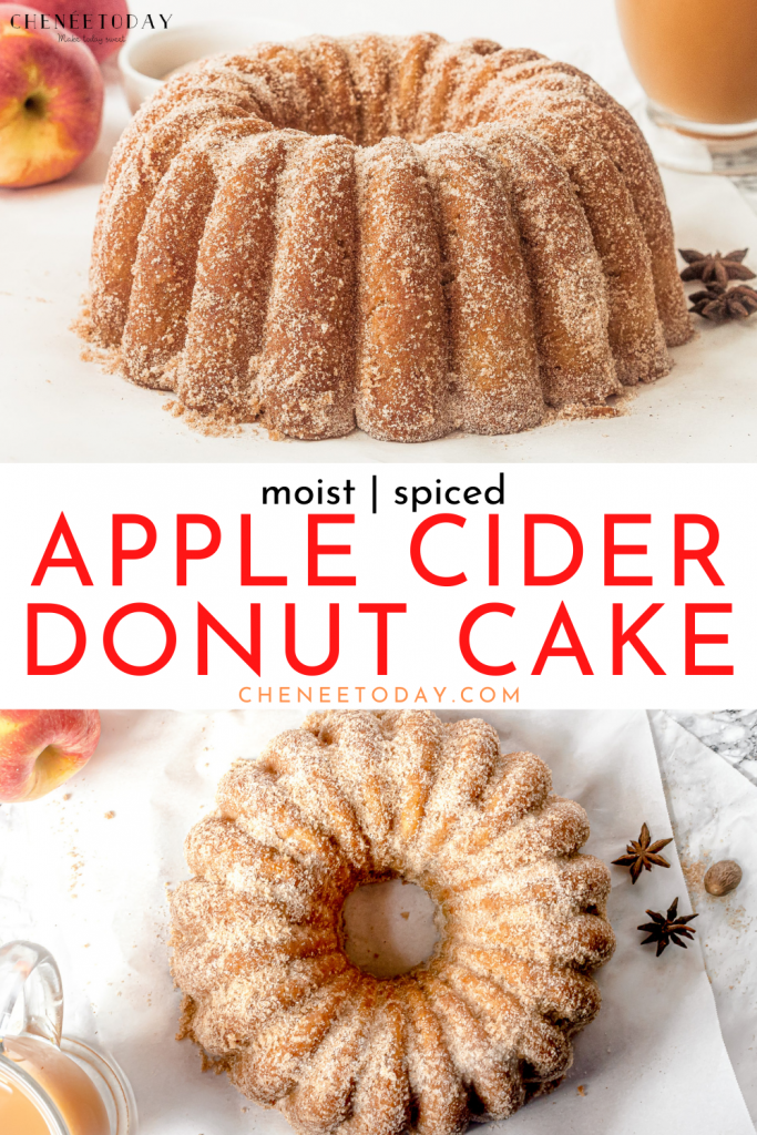 Apple Cider Donut Cake – Easy Bundt Cake Recipe with Fresh Apples and Cinnamon!   Chenée Today