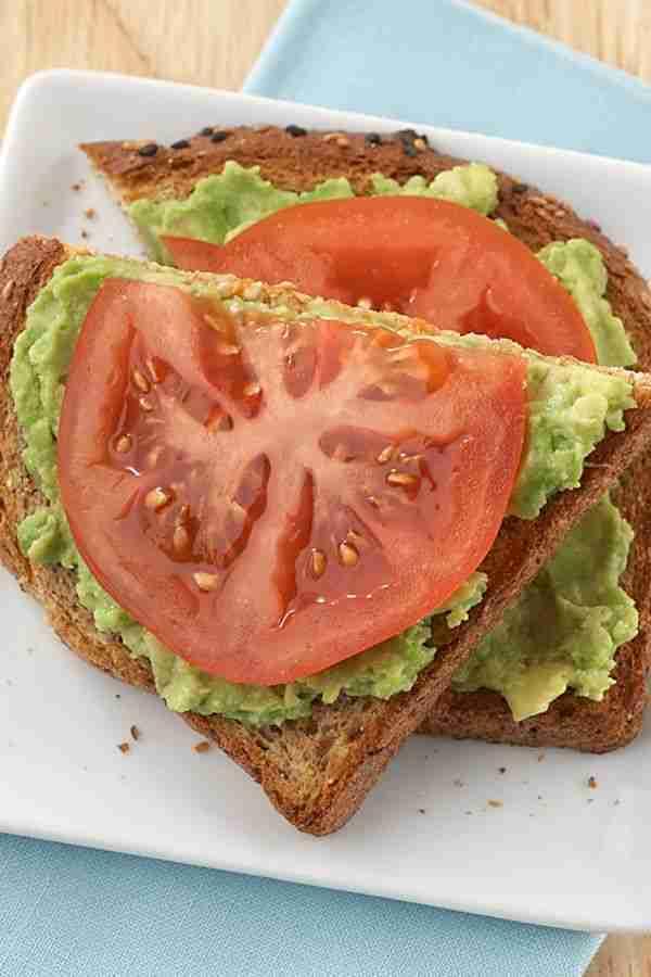 Avocado-Tomato Open-Face Sandwich