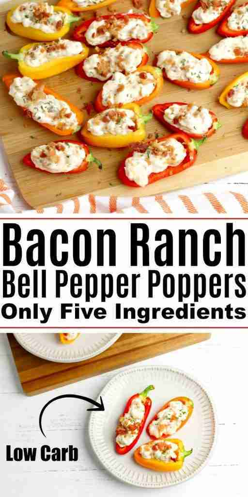 Bacon Ranch Bell Pepper Poppers
