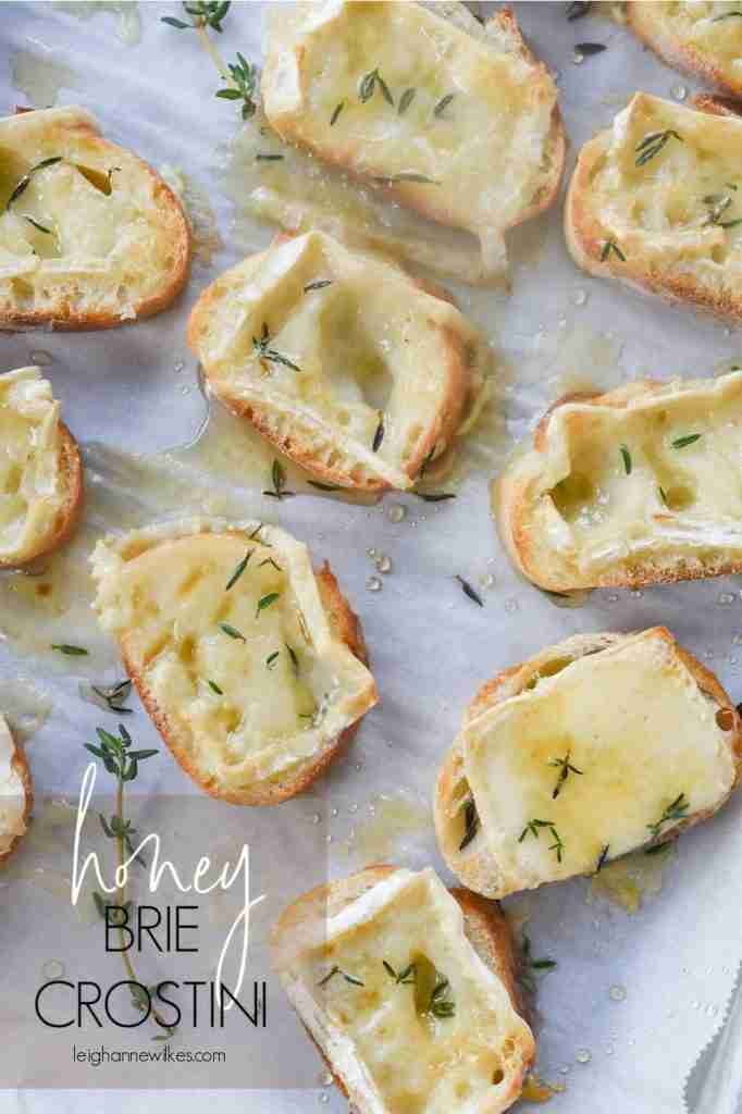 Brie Crostini with Honey and Herbs