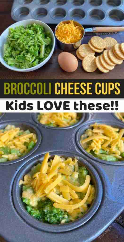 Broccoli Cheese Cups (A quick, easy & healthy snack idea for kids!) | Quick easy healthy snacks, Hea