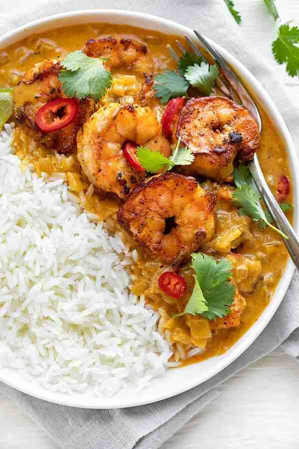 Coconut Curry Shrimp | The Cozy Apron