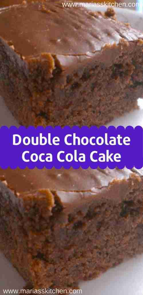 Easy Double Chocolate Coca Cola Cake Recipe – Maria's Kitchen