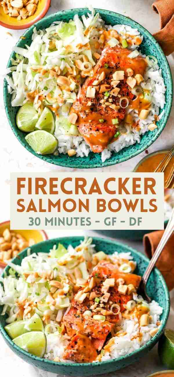 Firecracker Salmon and Rice Bowls