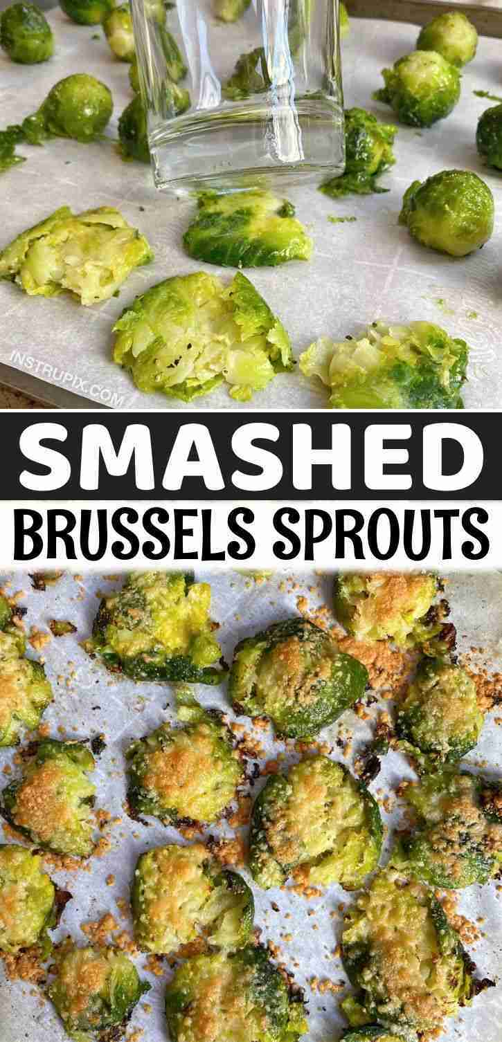Garlic Roasted Smashed Brussels Sprouts (The Best Healthy Side Dish)