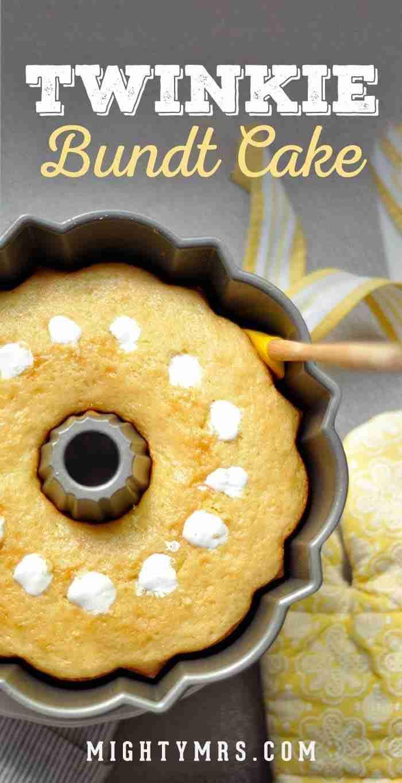 Giant Twinkie Bundt Cake