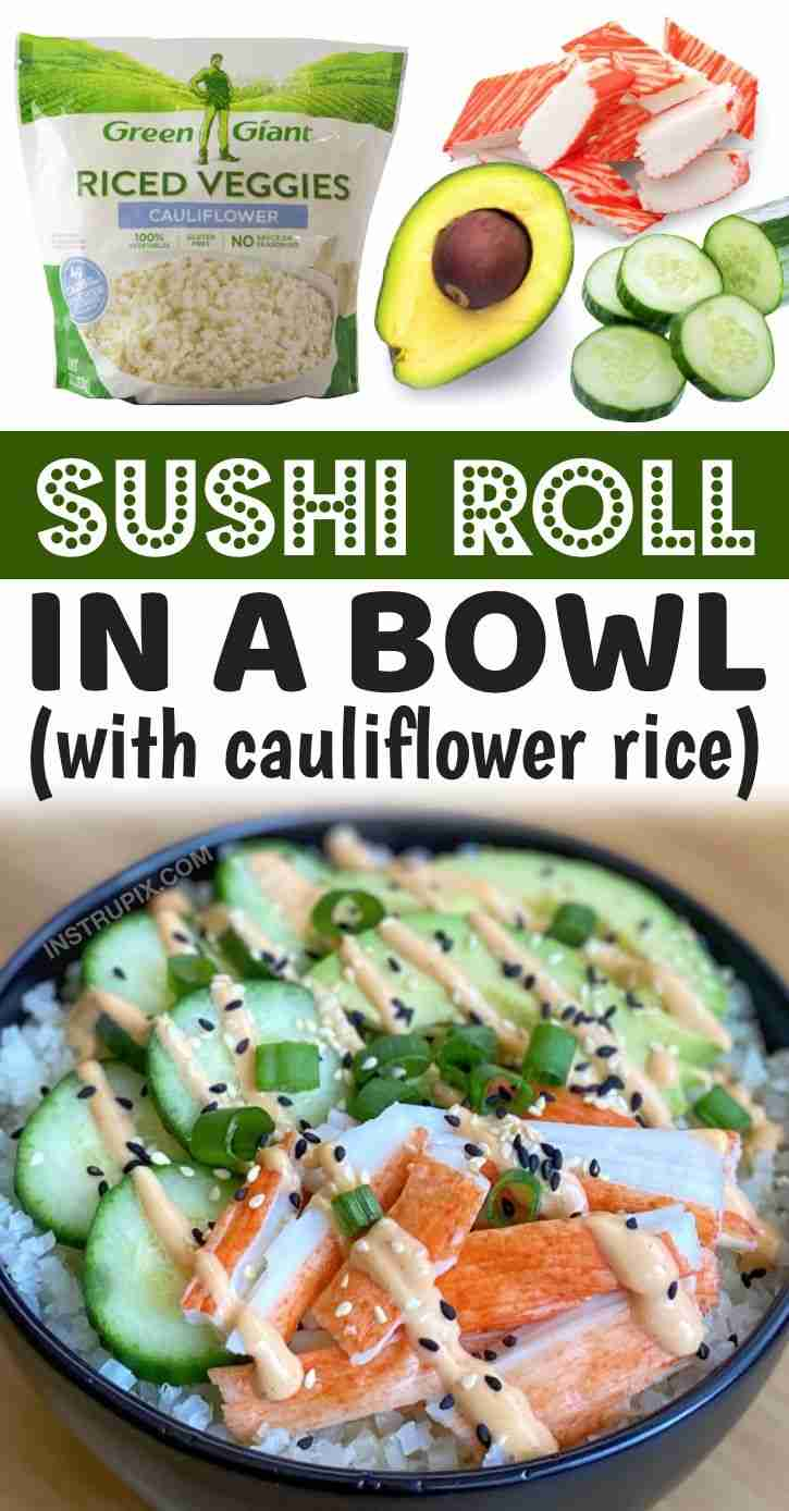 Healthy Lunch Ideas For Work (Low Carb Sushi Bowls)