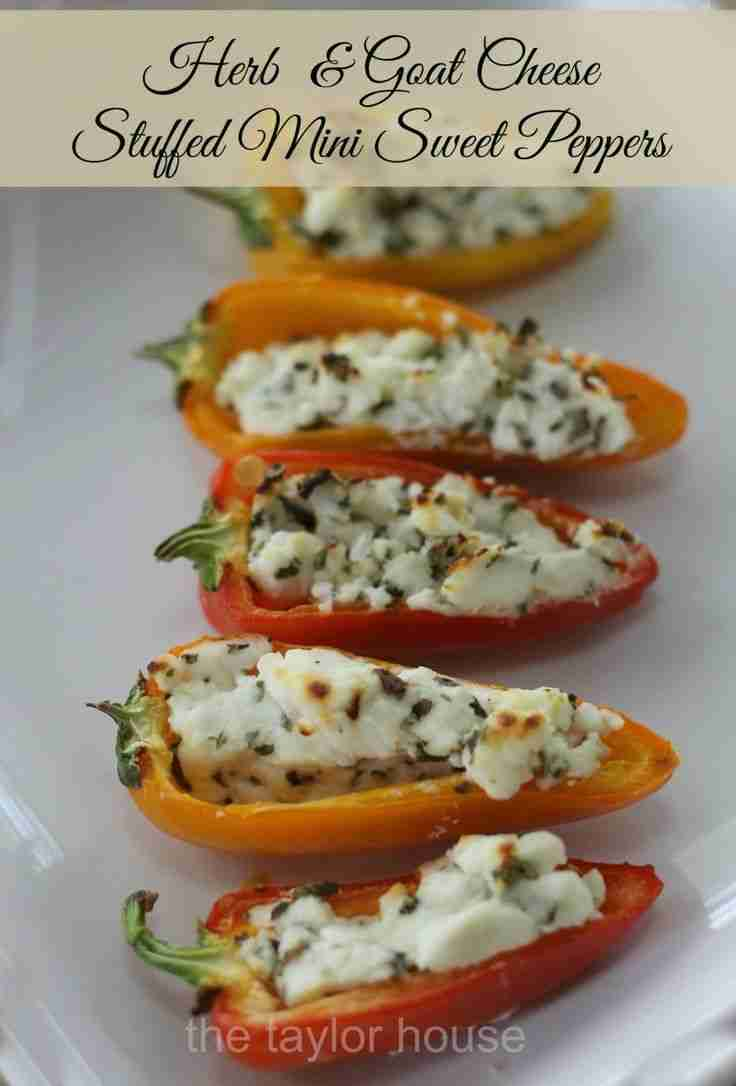 Herb & Goat Cheese Stuffed Peppers