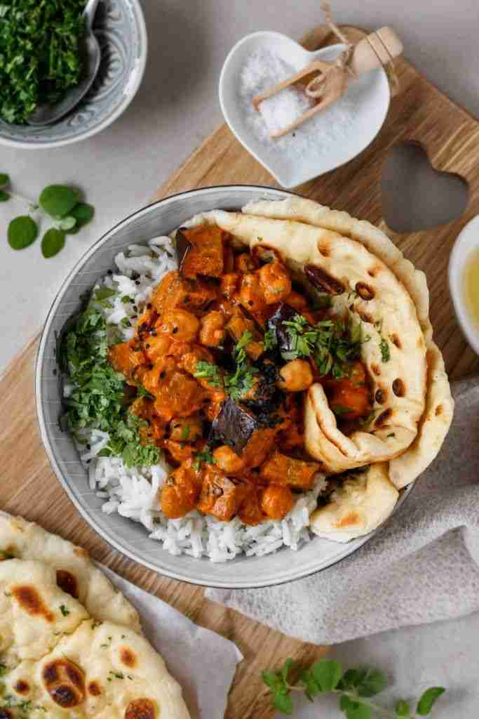 Indisches Melanzani Curry – einfach und vegan – Healthy Dreams