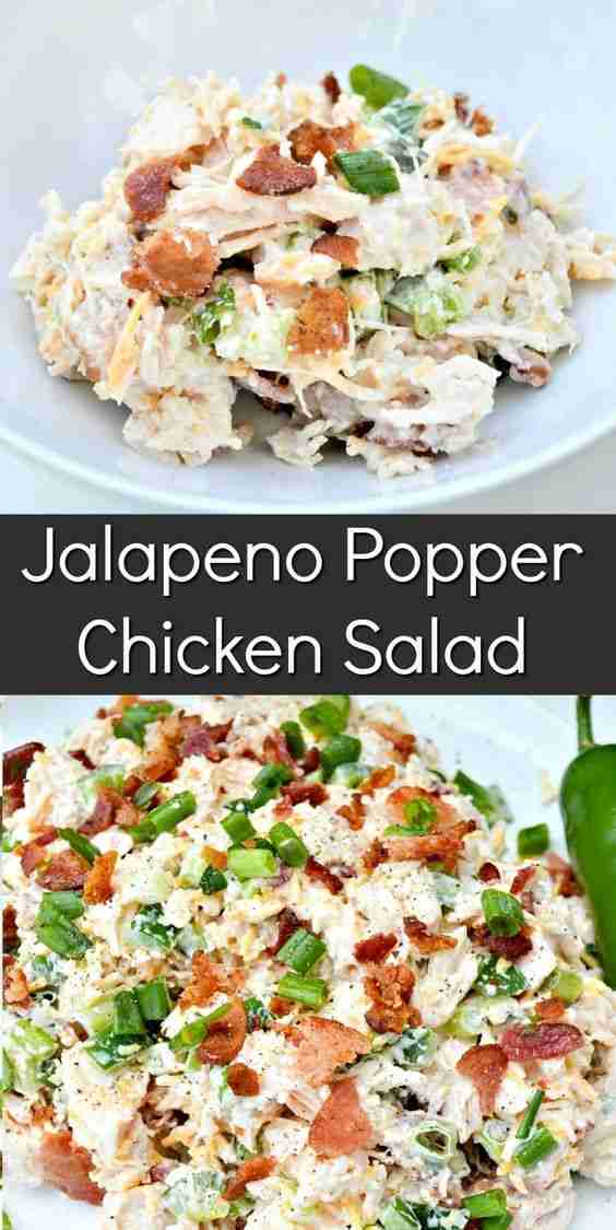 Jalapeno Popper Chicken Salad – This fresh and flavorful canned chicken salad ta…