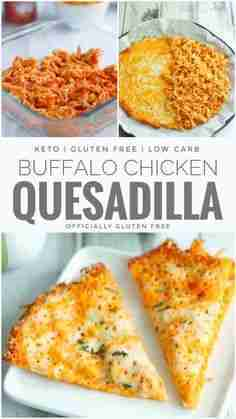 Keto Buffalo Chicken Quesadilla | Easy Low Carb and Keto Cheese Shell