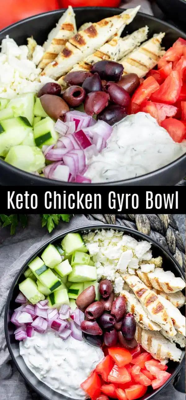 Keto Chicken Gyro Bowl