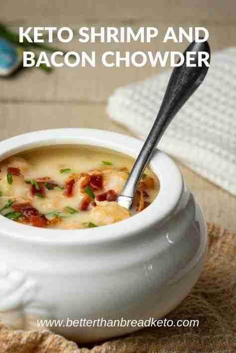 Keto Shrimp and Bacon Chowder
