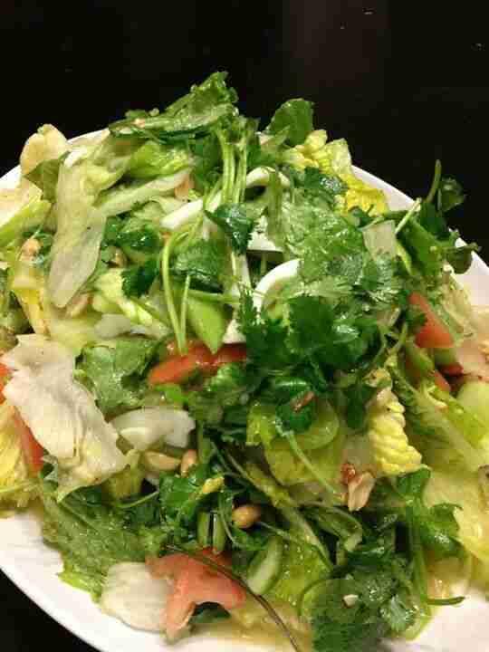 LUANG PRABANG aka YUM SALAD (lettuce and watercress salad with egg yolk dressing…