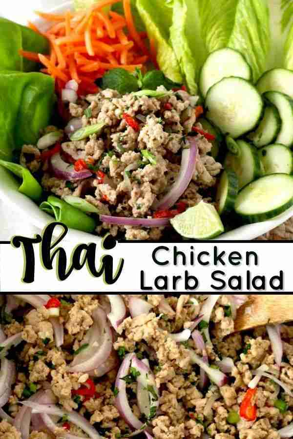 Larb Thai Chicken Recipe   Lemon Blossoms