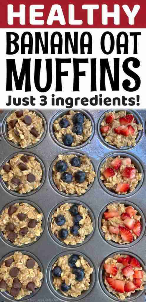Looking for healthy snacks? My kids love these 3 ingredient muffins!