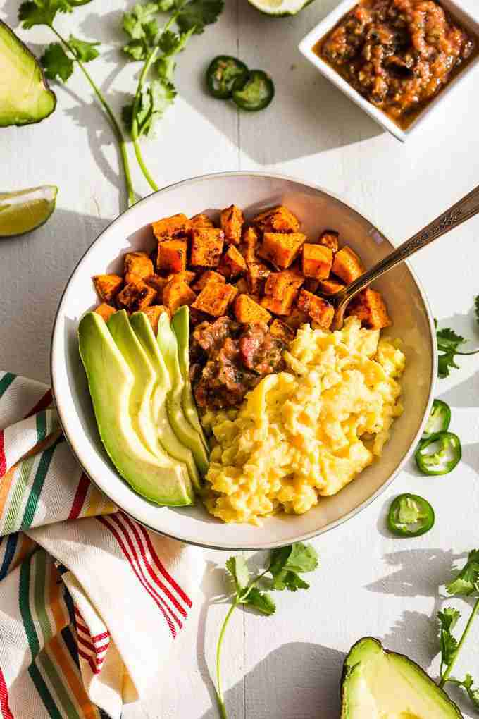 Mexican Inspired Sweet Potato Breakfast Bowls   Get Inspired Everyday!