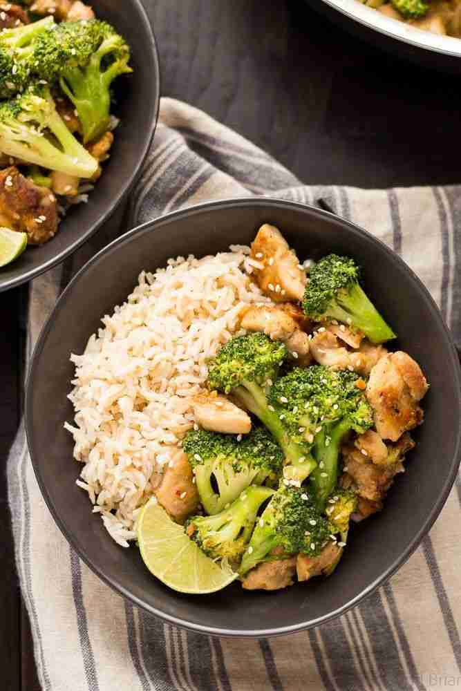Peanut Sauce Chicken and Broccoli Bowls – Fox and Briar