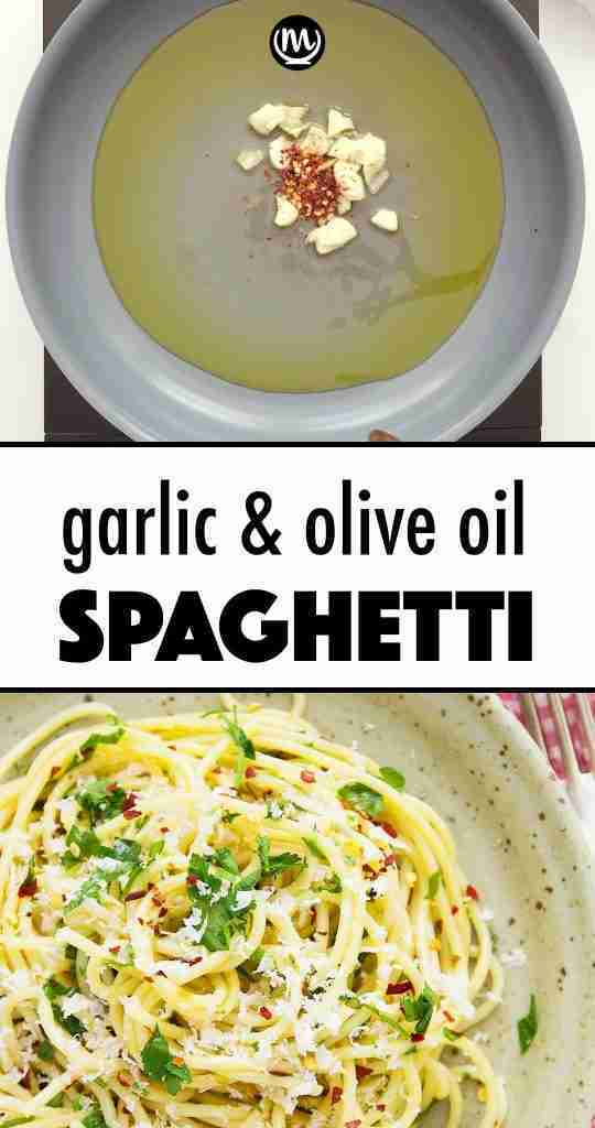 Quick Garlic & Olive Oil Spaghetti