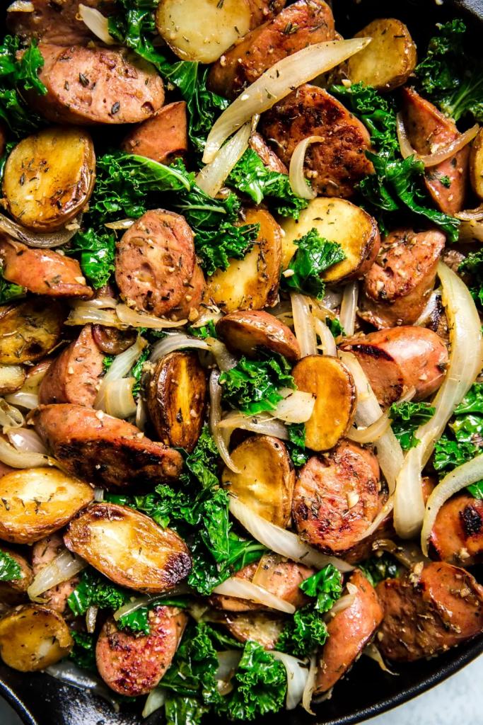 Sausage, Kale and Potato Skillet Dinner | The Modern Proper