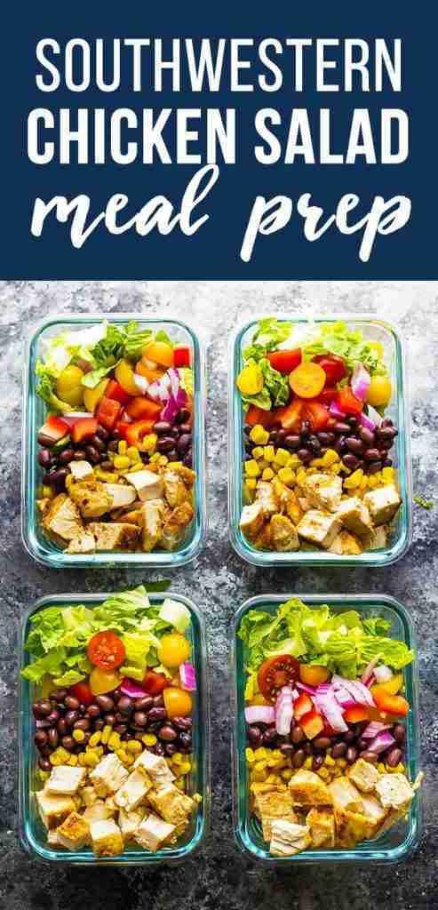 Southwestern Chopped Chicken Salad (Meal Prep)