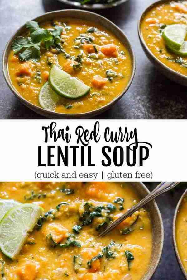 Thai Red Curry Lentil Soup – Savory Lotus