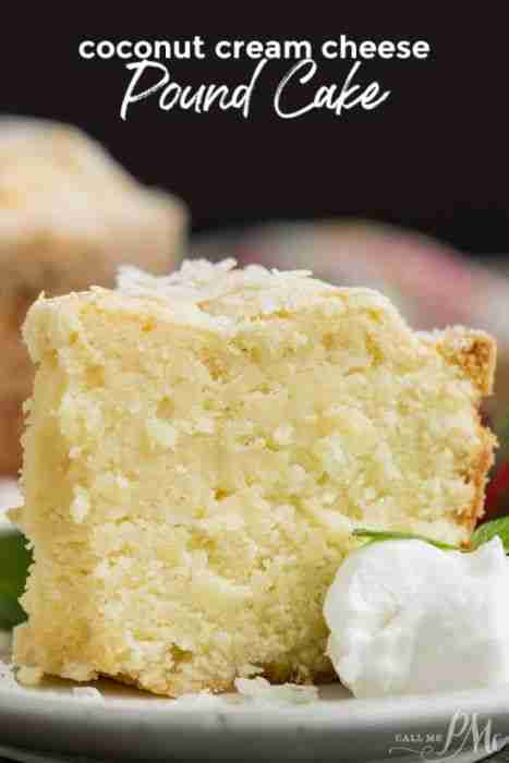 The very best Coconut Pound Cake