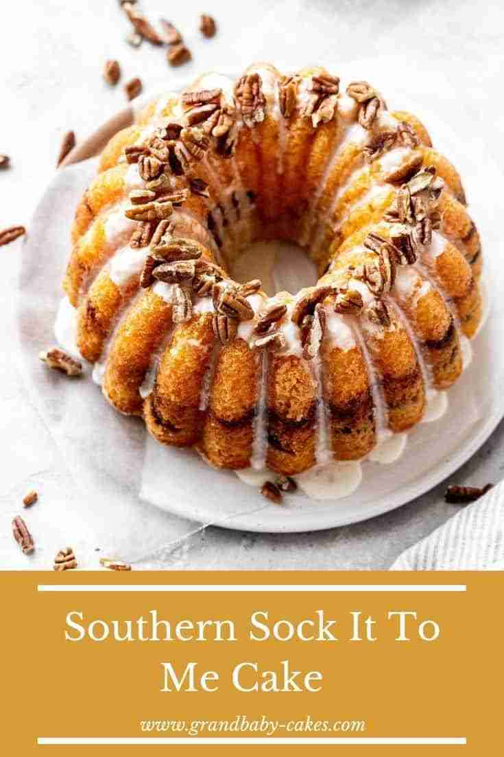 This Southern Sock-It-To-Me Cake recipe pairs a moist and buttery cake texture w…