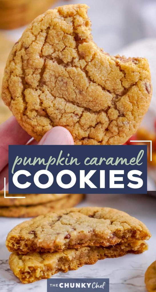 Toffee Crunch Pumpkin Cookies