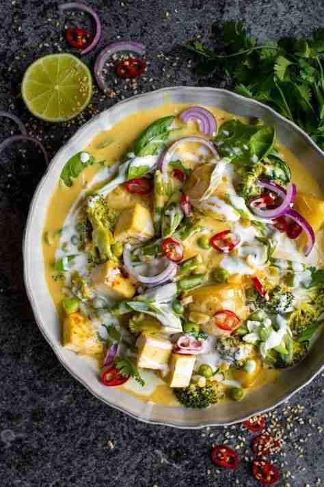 Vegan Red Thai Coconut Curry | Lauren Caris Cooks